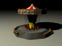 3d swings amusement park