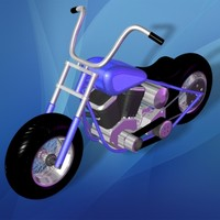 3d chopper toy motorcycle cycle model