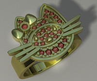 woman s ring jewelry 3d max