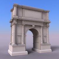 roman arch c4d