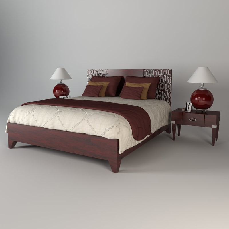 3ds max bedar bed for 3ds max bed model