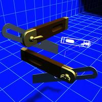 bevel gauge tool 01 3d model