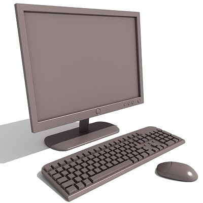 3ds max lcd monitor keyboard - LCD monitor + Keyboard... by Gandoza
