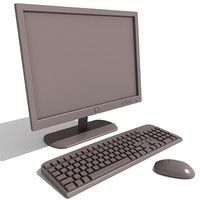 3ds max lcd monitor keyboard