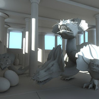 fantasy dragons temple greek max