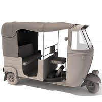 Bajaj Rickshaw Indian Mini Taxi