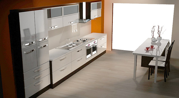 3d modern kitchen modular