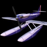 3d model of s6b plane pzs6b