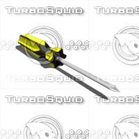 3d model screwdriver philips