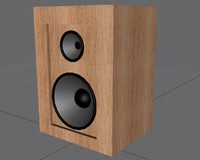 3d loud speakers model