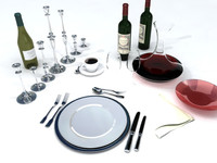 3d set tableware