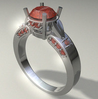 3d model woman s ring jewelry