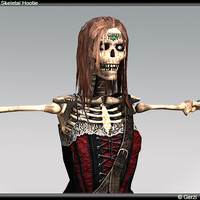 3d skeleton hottie model