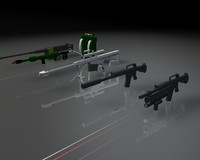 3d weapons m16 rifle machine gun model