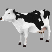 Low Polygon Cow