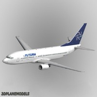 b737-400 futura airways 3d max