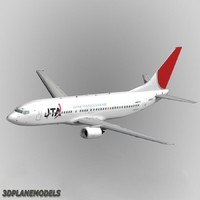 3d model b737-400 japan transocean air