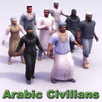 arab rigged 3d model