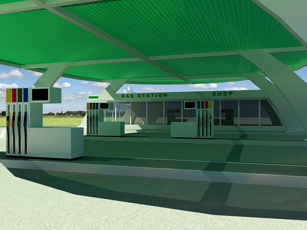 gas station v5 3d lwo - Gas station V5... by 3d_molier