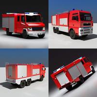truck firetruck 3ds