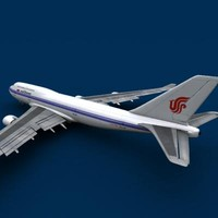 3d model of b 747-400 air china
