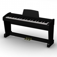 digital piano 3d model