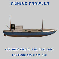 3d fishing trawler model