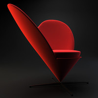 heart cone chair 3ds