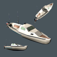 3d fishing boat