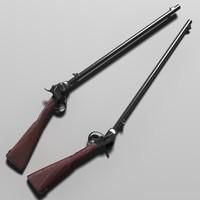 carabina tarpley 1863 3d max