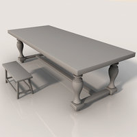 table old 3d obj