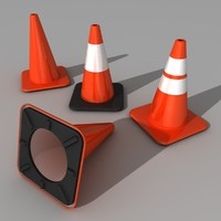 traffic cones 3ds