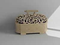 3d model decorative box accessory