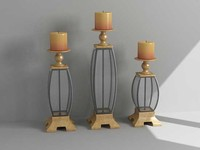 3d decorative candle holders