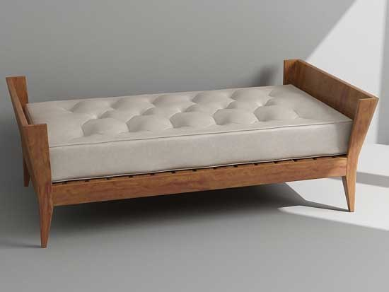 3d model bench daybed Daybed bench