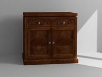 3d model dresser cabinet