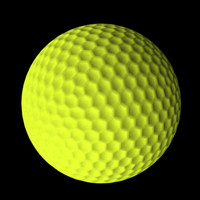 3d yellow golf ball