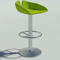 3d model fjord stool circle green