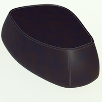 3d fjord big pouf black