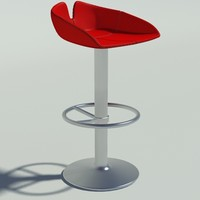 fjord stool circle red max