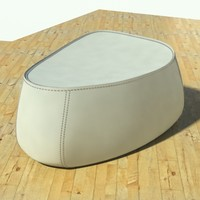 Fjord medium pouf stone