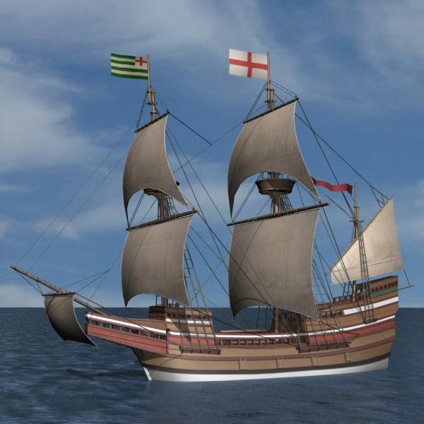Galleon mayflower 3d model for Mayflower car shipping