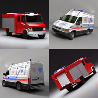 truck ambulance 3d 3ds
