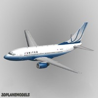 Boeing 737-500 United Airlines