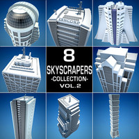 8 skyscrapers c4d