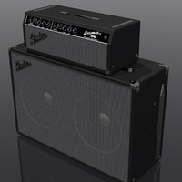 3d model of bassman amp amplifier