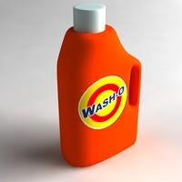 3d bottle detergent