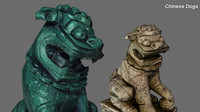 Chinese Dogs Sculpture