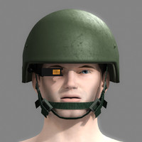 3ds max military helmet night vision