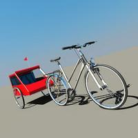 Ladys Bike with Trailer